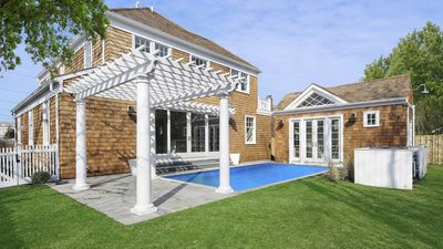 Photo for New Listing: Bright Post-Modern Design with Contemporary Luxuries, Heated Pool, Pool House, Walk to Town