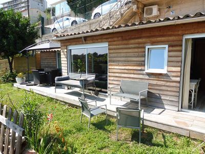 Photo for Air-conditioned chalet, parking, sea view, walk of the English to 20mn
