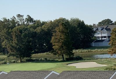 View of Golf Coarse from kitchen, front deck and second bedroom.