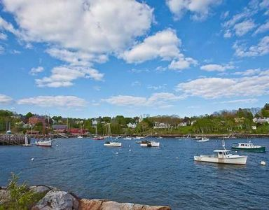 Lovely Rockport Harbor with mix of lobster and pleasure boats. This is the view!