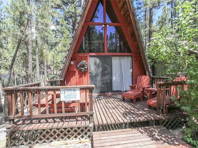 Photo for A-Frame Of Mind - Adorable Woodsy A-Frame with Loft and WiFi!