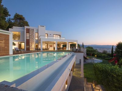 Photo for Five-bedroom Villa Tanos oozes luxury. Located in between the tree-laced countryside in Chania, on t