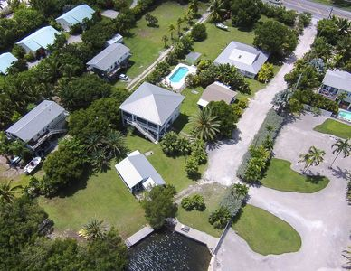 Aerial View, Cottage one is closest to the water
