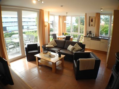 Photo for Cozy and luxuriously furnished apartment, with partial sea view