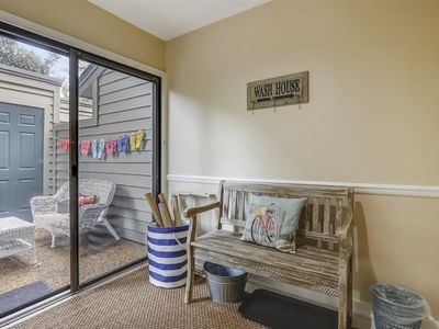Photo for A comfy 2 bedrooms, 2.5 bath, pet friendly townhouse, just half a mile to the beach!