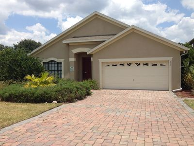 Photo for Luxury Model Home on Gated Resort with Private Pool & Spa 20mins from Disney!