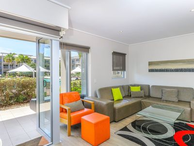 Photo for Walk out to the Lagoon Pool from this tweed coast resort apartment