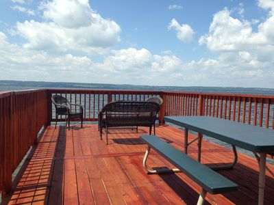 Picnic Table, Loveseat and Chairs on Sundeck