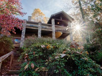 Photo for Catawba Lake House - Right on Lake Lure, Water Access with Hot Tub, Game Room & more!