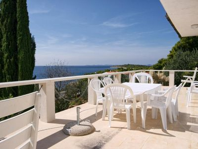 Photo for Four bedroom apartment with terrace and sea view Bilo (Primošten)