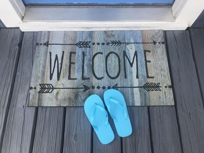 The welcome mat is out - when did you say you were arriving?  Time to relax....