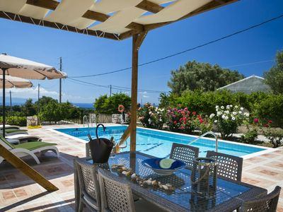 Photo for Rose Villa: Large Private Pool, Sea Views, A/C, WiFi