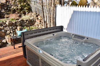 Soak under the stars in your own private hot tub!