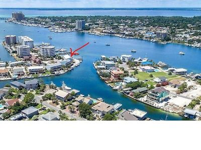 Photo for Destin Harborfront Townhome with Boat Slip & Lift