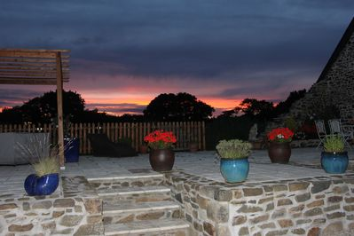 Sunset over the Terrace