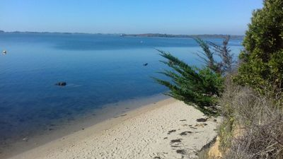 Photo for new house with sea view 50 meters from the beach near vannes gulf of morbihan