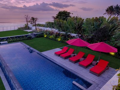 Photo for Beachfront villa spacious & private pool. HOT DEAL