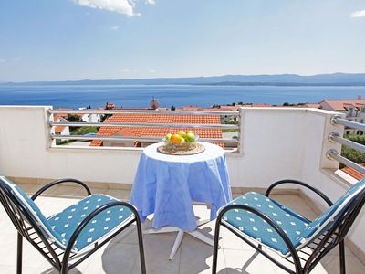Photo for Lovely sea view studio for 2•balcony•parking - Vespera 15