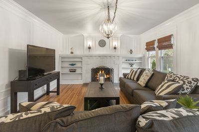 """Comfortable Family Room with 55"""" 4K TV"""