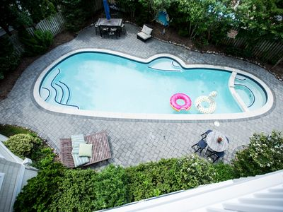 Photo for Pool & Outdoor Bar with TV & a Gas Fire Pit: Available Labor Day & Chowder Fest