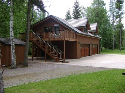 Split level home with ample parking.  RV hookup at back of house. Circular drive