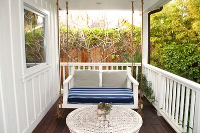 Hanging day bed for relaxing
