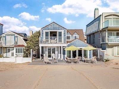 Photo for Charming oceanfront home w/ lovely interior - step right onto the beach!