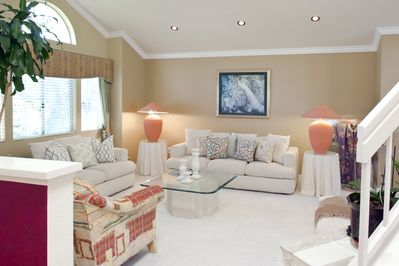 Modern living room great for entertaining in our newly remodeled 2000+sq.ft home
