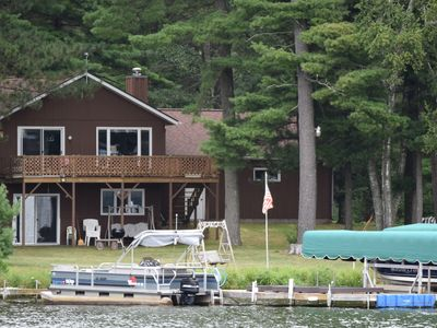 Photo for Big St Germain Lake House - Secluded 3 Acre setting with stream running through
