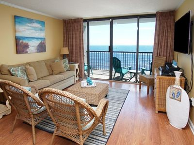 Photo for Sea Winds PH8,  Beautiful 2 Bedroom Luxury Condo With Oceanfront Balcony, Indoor Pool and Hot Tub