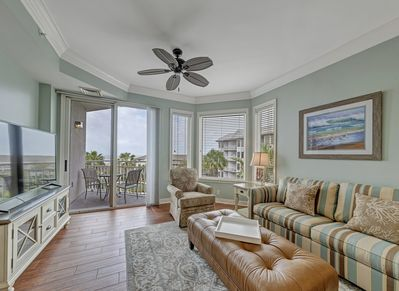 Living Room with New Furniture at 2404 Sea Crest