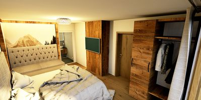 Photo for Deluxe suite with sauna, whirlpool, fireplace and direct access to the slopes