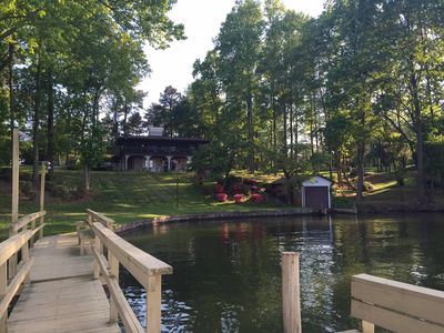 Photo for Swim, Boat, Jetski frm Private Cove into Lake Norman; Beautiful view Comfy House