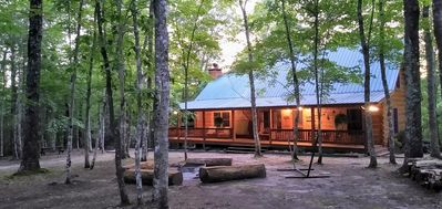 Cabin in the evening