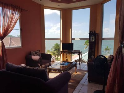 Photo for See Belize 2-BR Penthouse with incredible panoramic Caribbean Sea & River views!