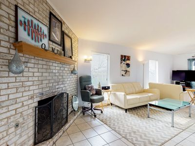 Photo for Uniquely decorated home with fireplace, balcony, carport and free WiFi!