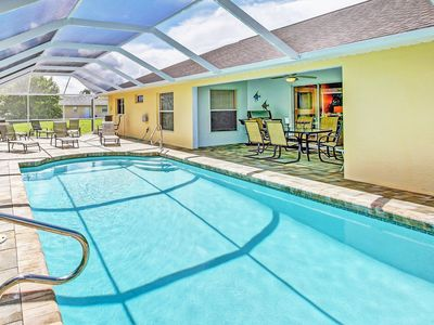 Photo for Single Family Home with heated Pool - Gulf Access and Boat Dock!!!