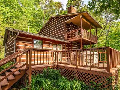 Photo for RELAX in a Modern Secluded Cabin ★ Hot Tub