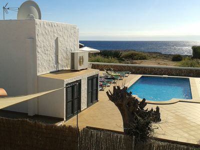 Photo for Tourist Villa in Binibeca. Seafront and heated pool.