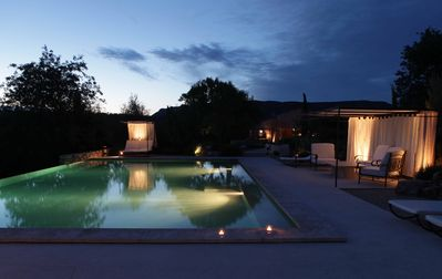 Photo for Stone farmhouse with swimming pool surrounded by nature, panoramic view