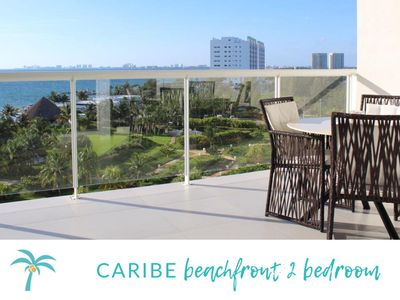 *CARIBE Beachfront 2 BDR- Incredible Oceanview*
