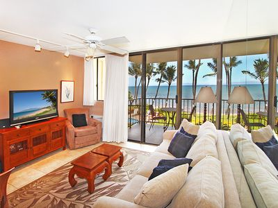 Photo for KR203-Oceanfront Beautiful Condo in Tranquil Beach Front Resort on South Maui Coast