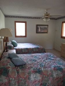Upstairs bedroom with 2 queen beds