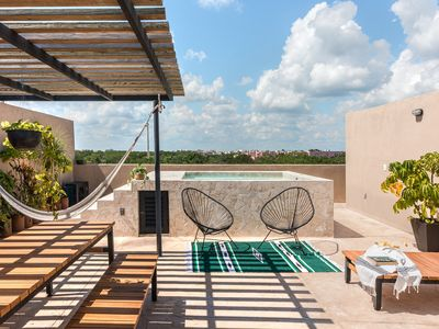 Photo for Casa Madera Tulum - PH with private pool and bbq, 10 minutes from the beach.