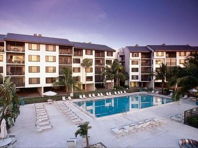 Photo for Directly Across From Beach - View of Heated Pool - Free Wifi - Beach Trolley