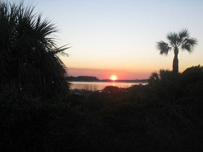 Sunset over 'LittleTybee' on the south end of Tybee.