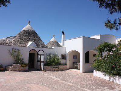 Photo for Beautiful trullo with private pool in rural setting - family friendly, sleeps 6