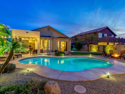 Photo for Gorgeous, Modern & updated w/Private Pool, Mountain Views, fire pit & more!