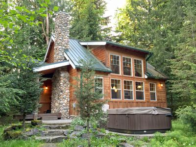 Photo for Cabin #11 This 2 story cabin is perfect for your family vacation needs with a private hot tub