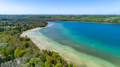 Incredible Lime Lake - Lime Lake is a beautiful body of water with almost Caribbean blue water and sandy shores.